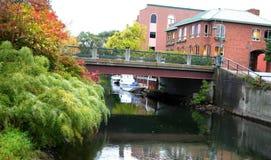 Città obliqua, Michigan Immagini Stock