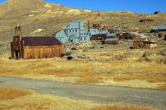 Città occidentale di estrazione mineraria del fantasma dell'oro degli S.U.A. di bodie Immagini Stock