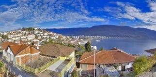 """Città Ocrida del †del lago ohrid, Macedonia vecchia """" fotografie stock"""