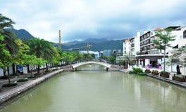 Città orientale del cinese d'oltremare Fotografie Stock