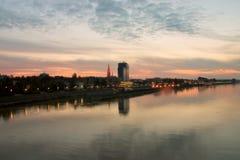 Città Osijek Fotografie Stock