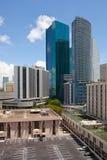 Città paesaggio urbano del centro delle costruzioni di Miami, Florida Fotografie Stock Libere da Diritti