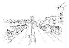 Città panorama-2 Fotografia Stock Libera da Diritti