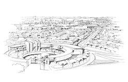 Città panorama-1 Fotografie Stock Libere da Diritti
