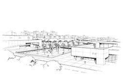 Città panorama-3 Fotografia Stock