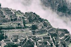 Città persa della pietra di Machu Picchu peru Il Sudamerica Nessuna gente Immagini Stock Libere da Diritti