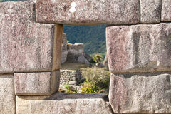 Città persa storica di Machu Picchu - il Perù Fotografie Stock Libere da Diritti