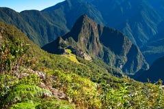 Città persa storica di Machu Picchu - il Perù Fotografia Stock