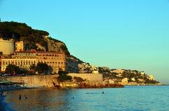 Città piacevole della foto del litorale della Francia fotografia stock libera da diritti