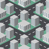 Città piana 3D Immagine Stock