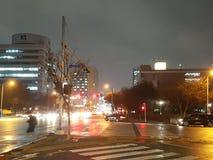 Città piovosa Immagini Stock Libere da Diritti