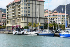 Città pittoresca di Port Louis in Mauritius Republic Immagine Stock