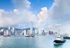 Città portuale di Hong Kong Fotografia Stock Libera da Diritti