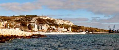 Città portuale di Mar Nero di Balchik Fotografie Stock