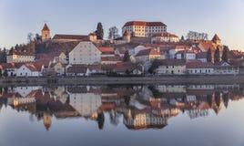Città Ptuj in Slovenia Fotografia Stock