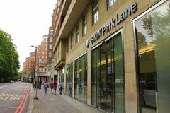 Città Regno Unito di Londra di vista del vicolo del parco fotografia stock libera da diritti