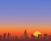 Città rossa Royalty Illustrazione gratis