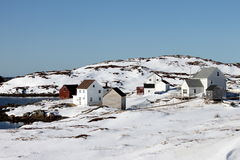 Città rurale isolata Immagine Stock