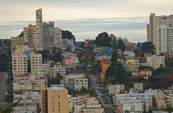 Città San Francisco e via del Lombard Fotografia Stock Libera da Diritti