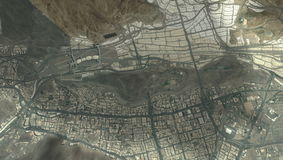 Città santa di Makkah dal cielo illustrazione vettoriale