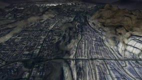 Città santa di Makkah ed i luoghi santi alla notte illustrazione vettoriale