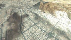 Città santa di Makkah ed i luoghi santi del cielo illustrazione di stock