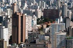 Città Sao Paulo del fondo di architettura Fotografia Stock Libera da Diritti