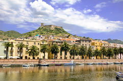 Città Sardegna di Bosa Immagine Stock