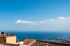 Città Scape di Castelmola Fotografia Stock
