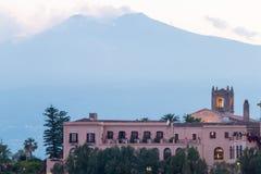 Città Scape di Taormina Immagine Stock Libera da Diritti