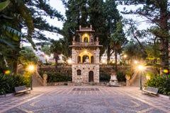 Città Scape di Taormina Fotografie Stock