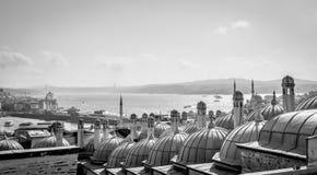 Città Scape Vista dalla moschea di Suleymaniye - Costantinopoli, Turchia Fotografia Stock Libera da Diritti