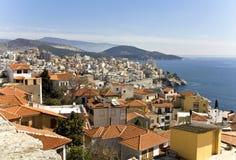 Città scenica di Kavala in Grecia immagini stock libere da diritti
