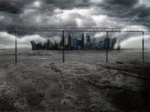 Città scura 2 Fotografia Stock Libera da Diritti