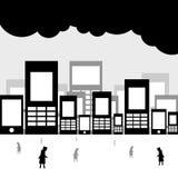Città senza anima Immagine Stock