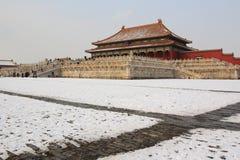 Città severa dopo neve Immagine Stock