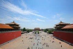 Città severa Pechino Cina fotografia stock