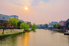 Città Shanghai di Tamigi immagini stock libere da diritti