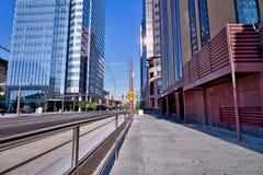 Città Sidewalk_Landscape Immagine Stock Libera da Diritti