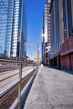 Città Sidewalk_Portrait Immagine Stock