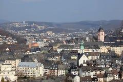 Città Siegen, Germania Fotografia Stock