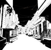 Città sketch01 Illustrazione di Stock