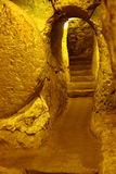 Città sotterranea di Derinkuyu Immagini Stock Libere da Diritti