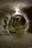 Città sotterranea di Derinkuyu, Cappadocia nell'Anatolia centrale Immagine Stock