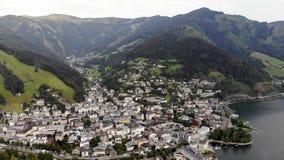Città sotto le alpi scenary video d archivio