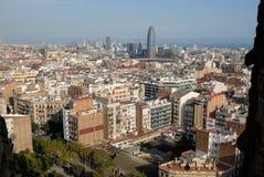 Città Spagna di Barcellona Immagini Stock Libere da Diritti