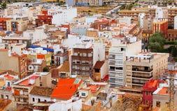 Città spagnola ordinaria di estate Fotografia Stock