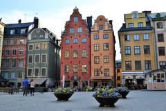 Città stan di Stoccolma Svezia Gamla Fotografia Stock