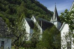 Città Stave Church della Norvegia Fotografia Stock