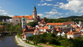 Città storica ceca Fotografia Stock